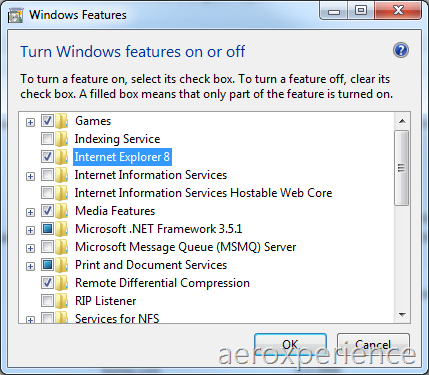 Disable IE8